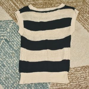 Forever 21 Tops - Forever 21 Navy/Ivory Striped Knit Top